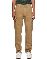 Brownstone Khaki Denim Double Knee Trousers