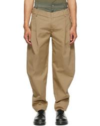 Feng Chen Wang Khaki Double Waistband Trousers