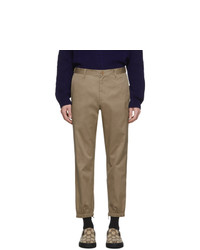 Gucci Khaki Stripe Trousers