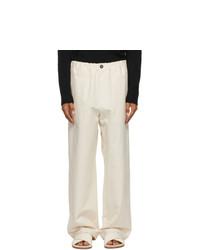 Jil Sander Off White Trousers