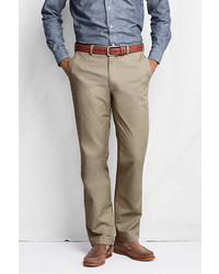 Lands' End Plain Front Tailored Fit Original Chino Pants