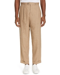 Editions M R Jean Paul Pleated Wool Linen Pants