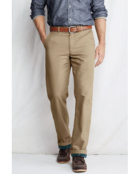 Lands' End Regular Flannel Lined Chinos