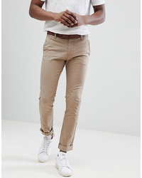 Tom Tailor Slim Chino In Beige With Belt
