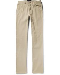 Brioni Slim Fit Cotton Twill Trousers