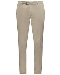 Brunello Cucinelli Slim Leg Cotton Blend Chino Trousers
