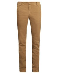 Kenzo Slim Leg Cotton Blend Gabardine Chino Trousers