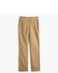 J.Crew Tall Cropped Ruffle Chino Pant