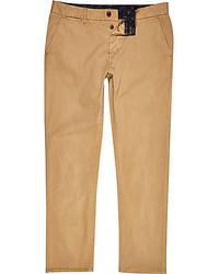 River Island Tan Brown Slim Chino Pants