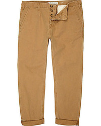 River Island Tan Carrot Fit Chinos