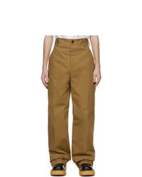 Bottega Veneta Tan Cotton Twill Trousers