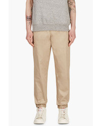 MSGM Tan Drawstring Chinos