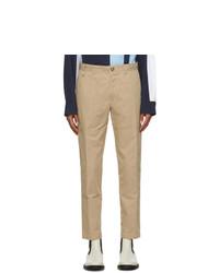 Lanvin Tan Patch Chino Trousers