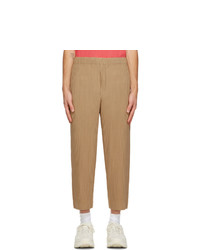 Homme Plissé Issey Miyake Tan Pleated Mc June Trousers