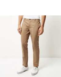 River Island Tan Slim Chino Pants
