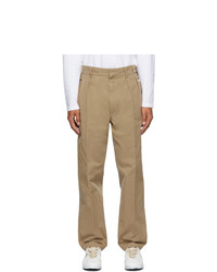 Maison Margiela Tan Stone Enzyme Wash Trousers