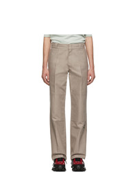 Raf Simons Taupe Illusion Straight Fit Trousers