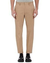 Valentino Twill Tuxedo Striped Trousers Green