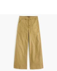J.Crew Wide Leg Cropped Chino Pant