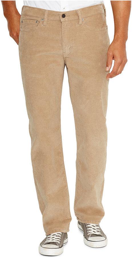 33870c9e Levi's 514 Straight Leg Corduroy Pants True Chino Wash, $58 | Macy's ...
