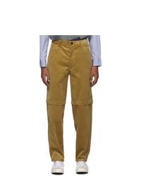 Comme Des Garcons SHIRT Beige Corduroy 2 Layer Trousers