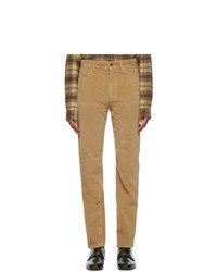 Gucci Brown Washed Velvet Corduroy Trousers