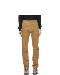 Dries Van Noten Tan Corduroy Slim Trousers
