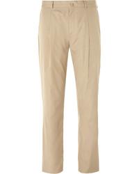 Acne Studios Beige Boston Slim Fit Cotton Suit Trousers