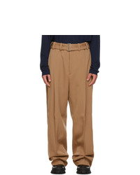 Jil Sander Brown Pleated Trousers
