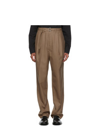 Lemaire Brown Pleats Trousers