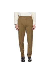 Deveaux New York Brown Wool Jasper Trousers