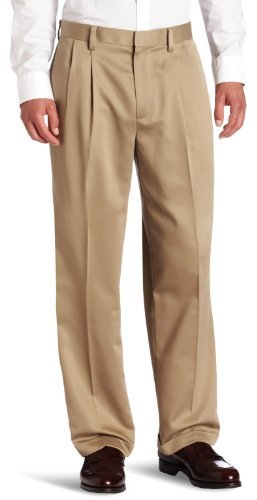 Dockers Never Iron Essential Khaki D4 Relaxed Fit Pleated Cuffed ...
