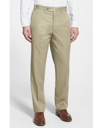 Flat front worsted wool trousers medium 22463