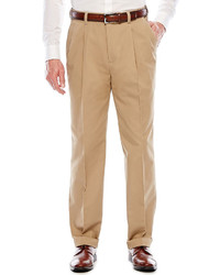 Savane Khaki Pleated Dress Pants