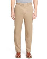 Nordstrom Men's Shop Nordstrom Smartcare Classic Supima Cotton Straight Leg Dress Pants