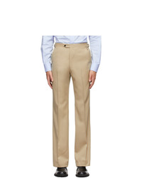 Husbands Off White Wool Trousers