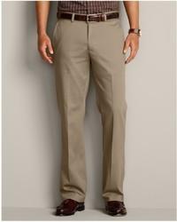 Eddie Bauer Performance Dress Flat Front Khaki Pants Classic Fit