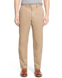 Nordstrom Men's Shop Smartcare Classic Supima Cotton Trousers