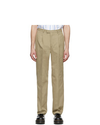 Noah NYC Tan Cotton Suit Trousers