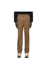We11done Tan Slim Fit Trousers