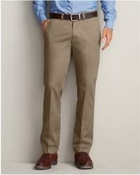 Eddie Bauer Winkle Free Slim Fit Flat Front Performance Dress Khaki Pants