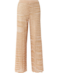 Missoni Sequined Crochet Knit Straight Leg Pants