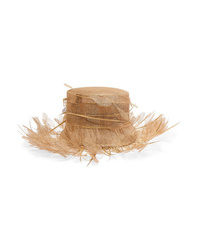 Valentino Embellished Straw Hat