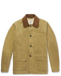 Kent & Curwen Kingsgate Corduroy Trimmed Cotton Twill Field Jacket