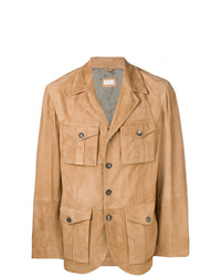 Brunello Cucinelli Multi Pocket Leather Jacket