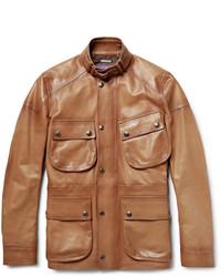 Thornhill burnished leather field jacket medium 1245811