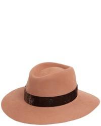 Charles rabbit fur felt hat w velvet medium 3734185