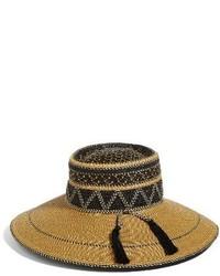 Eric Javits Palermo Squishee Wide Brim Hat Beige