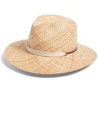Wide brim raffia hat beige medium 3747130