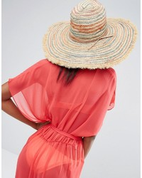 Hat Attack Stripe Fringed Beach Hat